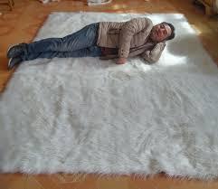 aliexpress com buy white faux sheepskin rug long faux fur