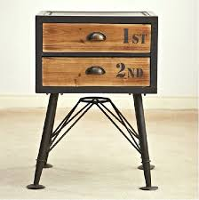 Wrought Iron And Wood Nightstands Side Table Vintage Bedside Tables Vintage Bedside Table Lamps