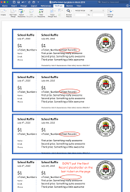 create printable raffle tickets in word fundraising pinterest