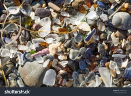 Glass Beach Ocean Polished Glass Shards Stones Glass Stock Photo 242296162