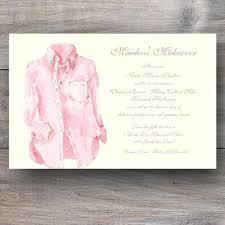 bridesmaid luncheon invitation pink oxford cloth bridal party invitations celebration bliss