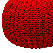 Knitted Ottoman Gumball Knitted Ottoman In