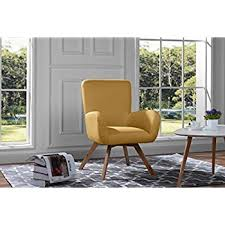 livingroom chair amazon com mid century modern tufted linen fabric living room