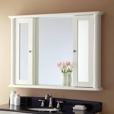 Bathroom Wall Cabinets White Two Door Bathroom Wall Cabinet With Shelf U0026 Mirror