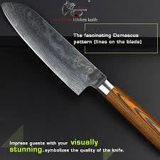 premium kitchen knives haoye 7 inch santoku knife 73 layers damascus kitchen knives