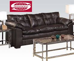 Simmons Convertible Crib by Premier Onyx Bonded Leather Match Sofa