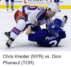 insurance phra chris kreider nyr vs dion phaneuf tor tor meme on