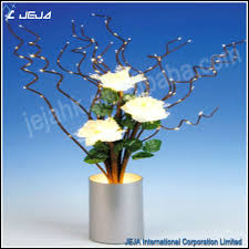 fiber optic flower light white design for wedding decoration