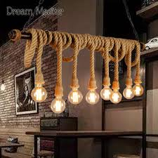 Cafe Pendant Lights Nordic Industrial Wind Rope Retro Clothing Store Cafe Cafe Pendant