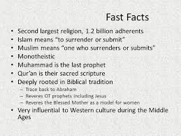 islam to the one god fast facts second largest