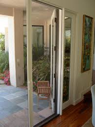 door retractable screen doors with ornament on glass and silver