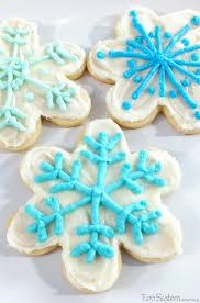 snowflake sugar cookies disney frozen snowflake cookies two