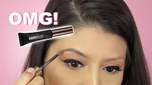 tattoo eyebrows by maybelline omg new maybelline tattoo studio brow gel review youtube