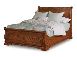 Solid Wood Sleigh Bed Wooden Sleigh Amish Beds