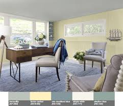 lemon sorbet wall relaxing home office design places u0026 spaces