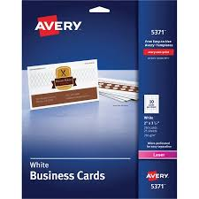 Avery Template For Business Cards Laser Microperforated Business Cards Walmart Com