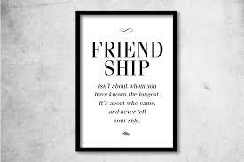 englische sprüche über freundschaft digitaldruck print friendship a4 o a3 schwarz weiß ein