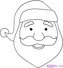 draw santa face step step christmas stuff seasonal