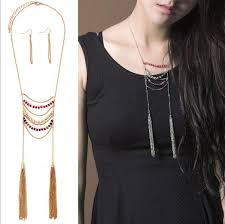 colored necklace chains images Handmade multi layered colored seed beads thin gold chain collar jpg