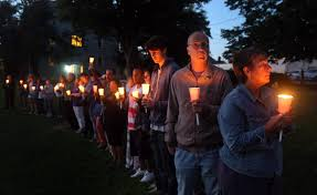 families friends gather on village green for annual overdose