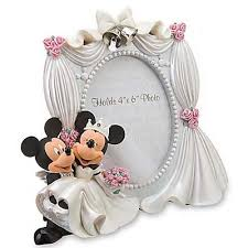 your wdw store disney picture frame wedding mickey and minnie