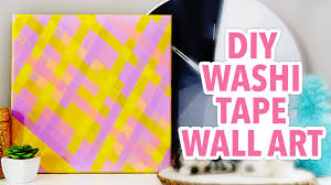 Washi Tape Wall Designs by Diy Plaid Wall Art Using Washi Tape Karenkavett Youtube