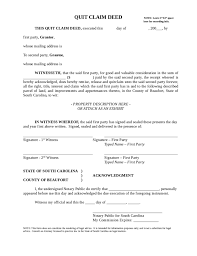 blank quit claim deed south carolina free download