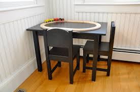 Ikea Kids Table And Chairs by Varnished Oak Wood Kids Table With White Board Top Surface Of