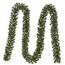 18 pre lit green pine artificial garland