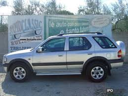 opel frontera opel frontera 2 2 2000 auto images and specification