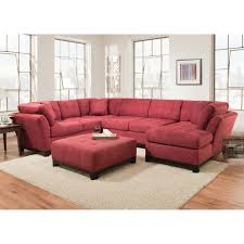 Red Loveseat Manhattan Sectional Sofa Loveseat U0026 Rsf Chaise Red 52a5r