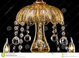 large close up chandelier with candles isolated on
