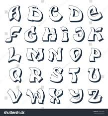 schrift design graffiti alphabet cool style font stock illustration