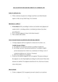 Council Regulation Ec No 44 2001 Brussels Sem 3 4 Brussels I Regulation Oxbridge Notes The United Kingdom