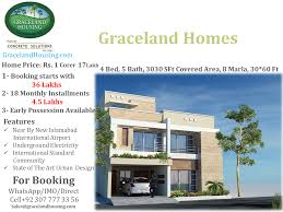 graceland home 8 marla 4 bedroom 5 bath 2 lounges 2 lawns drawing