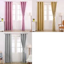 Purple Grey Curtains Shop Modern Blackout Curtains Shade Solid Color Window