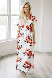 floral maxi bridesmaid dress white ruffle sleeve floral maxi modest dress best and