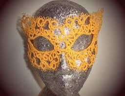 mardi mask 110 best tatted masks images on crochet mask tatting