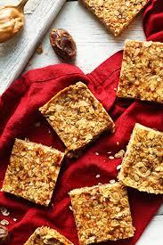 Top 10 Healthiest Granola Bars by Peanut Butter Granola Bars Minimalist Baker Recipes