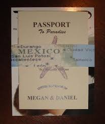 diy passport wedding invitations template yaseen for