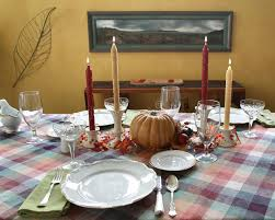 thanksgiving dinner table set for dinner stock image image of