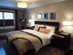 bedroom paint colors with dark brown furniture white table grey
