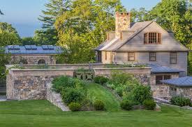 grand garden landscape farmhouse with herb garden stone wall herb