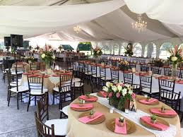 draping rentals wedding tent with chandeliers and sheer draping in illinois