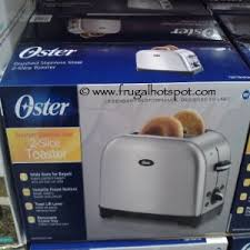 Oster 2 Slice Toaster Costco Sale Oster Brushed Stainless Steel 2 Slice Toaster 14 99