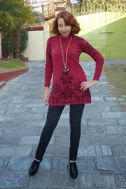 Different Shades Of Red Local Fashion Knitted Mini Dress And Long Cardigan
