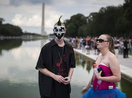 a mostly typical saturday in washington d c political rallies