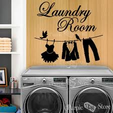 online get cheap laundry room decals aliexpress com alibaba group new laundry vinyl wall decal laundry room clothesline mural wall sticker laundry room hotel home decoration