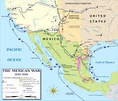 Mexico Map With States by Map Of The Mexican American War 1846 1848 The Mexican American