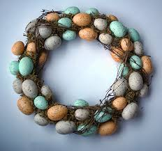how to make an easter egg wreath knock craft store easter wreath